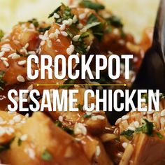 This Crockpot Sesame Chicken is a more flavorful, health-i-fied version of a take-out classic! One of my go-to throw and go, quick and easy recipes! Crock Pot Cooking, Easy Cooking, Cooking Games, Cooking Pork, Cooking Turkey, Cooking Beets, Cooking Salmon, My Burger, Healthy Chicken Recipes