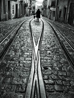 street with tramtracks