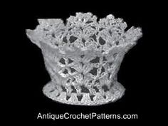 Small Crochet Basket Pattern - this crochet pattern makes a small crochet basket that can be used as a basket to hold nuts or for party favors - to name only a few uses. Crochet Bowl, Easter Crochet, Thread Crochet, Crochet Yarn, Crochet Doilies, Crochet Flowers, Free Crochet, Fabric Flowers, Vintage Crochet Patterns