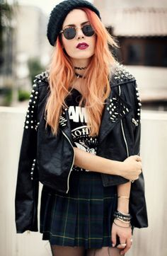 Team your Tartan with a leather jacket for the rebel/ grunge style trend :)