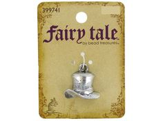 Fairy Tale by Bead Treasures Antique Silver Mad Hatter Hat Charm | Shop Hobby Lobby, $1.99