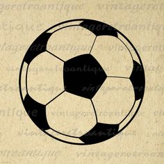 Printable Image Soccer Ball Graphic by VintageRetroAntique on Etsy