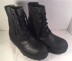 HOOD US Heavy Rubber Snow Boots Size 8 W, Lace Up - Military Issue,Insulated #Hood #Military
