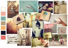 Moodboard and colours girlswear Lisa