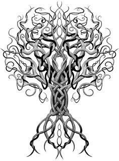 Image result for tree with body under roots
