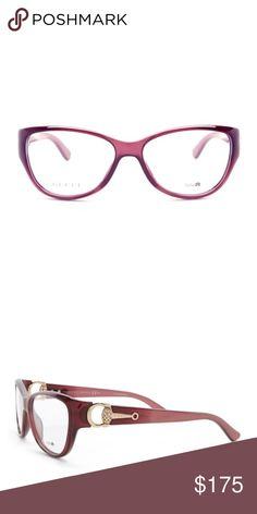 Gucci Optical Frames Authentic Gucci Cat Eye Optical Frames.  Burgundy Color.  Case Included Gucci Accessories Sunglasses