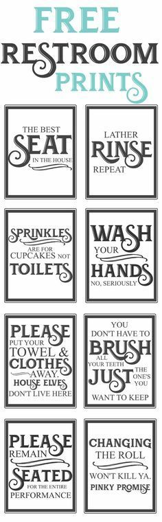 Free Vintage inspired bathroom printables-funny quotes to hang up in the restroom-farmhouse http://style-www.themountainviewcottage.net Funny Quotes, Vintage Inspired, Barware, Coasters, Bathroom, Kids Wood, Wood Crafts, Children, Farmhouse Style
