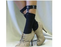 Sock Garters Thigh high Garters / Catherine Cole Studio / Made in USA / steampunk garters  timeless vintage classy style / 2 styles