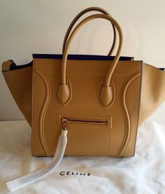 New Celine Sand/Blue Panthom Medium Tote Bag $2,950.00