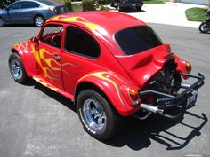 Flaming baja Bug