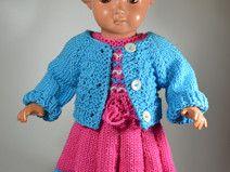 Puppenjacke  gestrickt für 34 cm Puppe