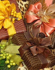 autumnal giftwrap
