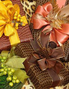 autumnal giftwrap