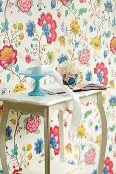 Tapet Floral Fantasy White