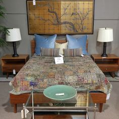 queen bed | Seams to Fit Home