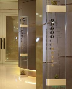 Glass directional signs that double as plant holders?!