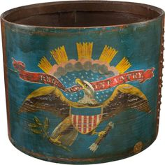 Military & Patriotic:Civil War, Incredible Antietam Battlefield Recovered Infantry Eagle Drum