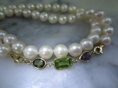 Perlenketten - TOM K Collier Perle Armband KetteTahiti Peridot - ein Designerstück von TOMKJustbe bei DaWanda