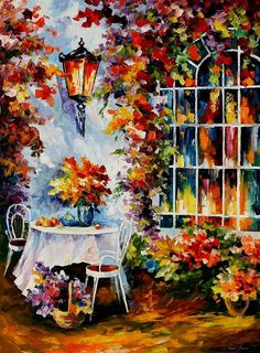 In The Garden Painting  Leonid Afremov