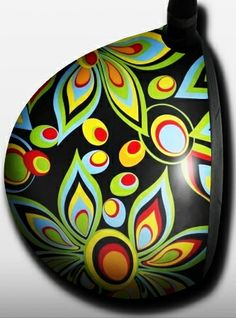 Personalized golf driver decal by Big Wigz Skins - Loudmouth Shagadelic Black.  Buy it @ ReadyGolf.com