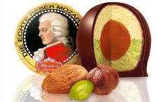 Motzartkugel....a famous candy in Austria.  It's made with marzipan.  I didn't really care for it.