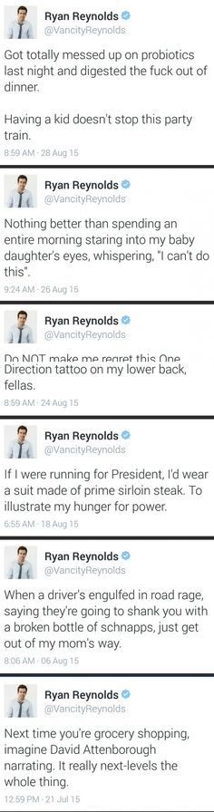 Ryan Reynolds Twitter is my new favorite thing