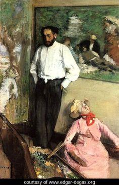 Degas     http://www.edgar-degas.org/138017/Portrait-of-Henri-Michel-Levy-in-his-studio,-1879-large.jpg
