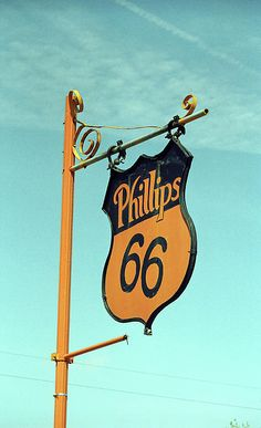 Phillips 66 on Route 66. Squeaky sign at the restored Phillips 66 gas station in McLean, TX. My Route 66 Facebook Page: http://on.fb.me/mcWEgx