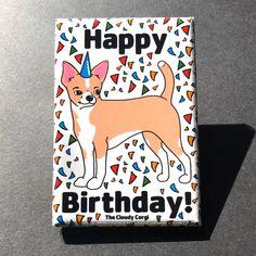Bearded Collie Happy Birthday Magnet Handmade Dog Gifts Fridge and Locker Decor