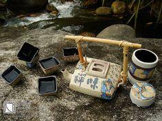 Tenmoku Pottery - Japanese Tea Pot Set 日本語早紀茶ポットセットセラミックアートワーク | Flickr - Photo Sharing!