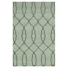 Hand-woven wool rug with a geometric motif.  Product: RugConstruction Material: 100% WoolColor: Slate...