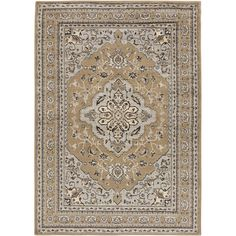 Beige Classic Beige Area Rug (7'9 x 11'2) | Overstock.com Shopping - The Best Deals on 7x9 - 10x14 Rugs