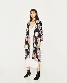 ZARA - WOMAN - DOUBLE-LAYER MID-LENGTH DRESS