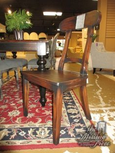 This is a pair of Swedish farmhouse chair from Steven Shell. They are made of solid mahogany and done in a distressed brown finish with tin accent at the top. Six in store. Matching table and server at posting.  Arrived: Tuesday November 15th, 2016