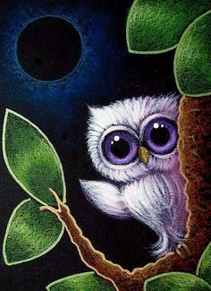 'Tiny Violet Owl -- Eclipse' by Cyra R. Cancel