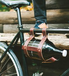 Leather Bike Growler Carrier by Fyxation on Scoutmob Shoppe