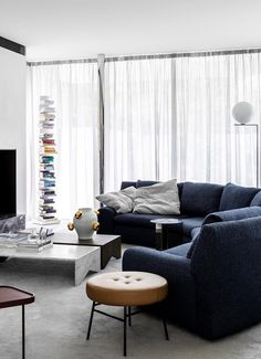 An ultra-modern family home in Brighton softened with colour | Belle Bedroom Doors, Master Bedroom, Modern Family, Home And Family, Stone Benchtop, Timber Battens, Glass Pavilion, Edwardian House, Modern Aesthetics