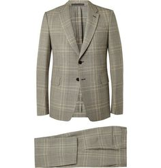 Valentino Grey Prince of Wales Check Wool Suit | MR PORTER