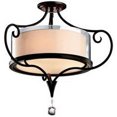 "Kichler Lara 21 1/4"" Olde Bronze Semi-Flush Ceiling Light, (Is too wide, but I like the stylying for the foyer.)"