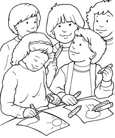 I Can Be a Friend Coloring Page - Sermons4Kids.com