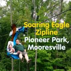 Indy With Kids visited the Soaring Eagle Seated Zipline at Pioneer Park in Mooresville. See what they thought!