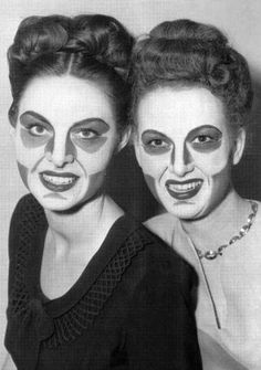 Make-up for early black-and-white television.
