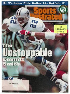 1993 Dallas Cowboys season: Regular season The Cowboys' journey towards Super Bowl XXVIII proved more difficult than the previous season. Running back Emmitt Smith held out the first two regular season games over a contract dispute Dallas Cowboys Images, Dallas Cowboys Players, Dallas Cowboys Football, Football Rules, Cowboys 4, Football Players, Super Bowl, Sports Magazine Covers, Cowboy History