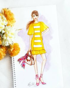 Image may contain: 1 person Dress Design Drawing, Dress Design Sketches, Fashion Design Sketchbook, Fashion Design Drawings, Fashion Sketches, Fashion Model Drawing, Fashion Drawing Dresses, Fashion Illustration Dresses, Fashion Figures