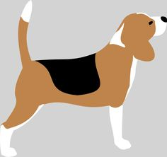 Beagle silhouette vector drawing