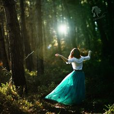 Ethereal forest dance.