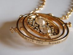 Harry Potter TIME TURNER necklace jewelry Hermione by CassieDesign, $13.90