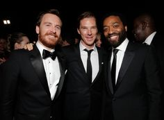 Benedict Cumberbatch+ Michael Fassbender + Steve McQueen? - Fox Golden Globes party, Jan 12 2014