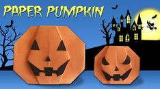Make paper PUMPKIN for Halloween. Get ready for a spooky Halloween. Watch how to make easy paper pumpkin. Halloween Paper Crafts, Spooky Halloween, Halloween Pumpkins, Origami Paper, Diy Paper, Diy Origami, Easy Crafts, Easy Diy, Crafts For Kids