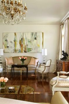 like the artwork over the couch--South Shore Decorating Blog: 50 Favorites for Friday #165